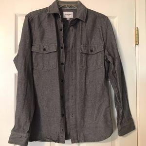 Goodfellow & C0 heavyweight gray herringbone shirt